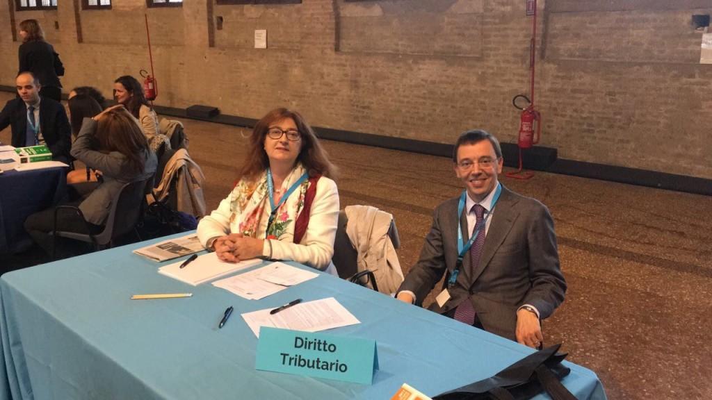 Il consigliere della Camera avv. Ornella Carraro e L' associato avv. Alessandro Vigna