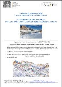 5^ giornata sulla neve della Camera degli Avvocati Tributaristi del Veneto @ Cortina D'Ampezzo
