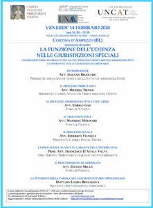 La funzione dell'udienza nelle giurisdizioni speciali @ Cortina D'Ampezzo