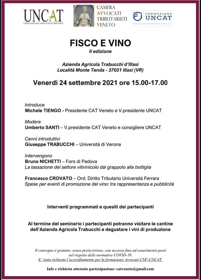FISCO E VINO @ Azienda Agricola Trabucchi d'Illasi